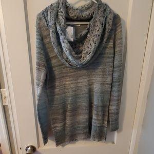 Gorgeous lightweight dressy cowl neck sweater